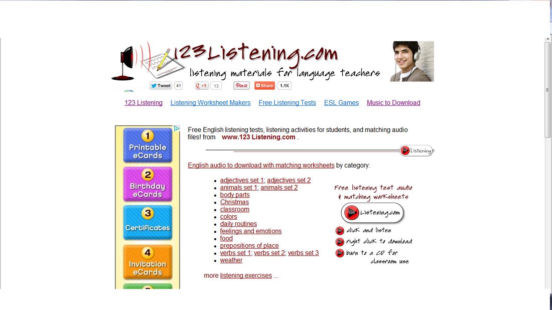 123 English Listening - YY's ESL Resources
